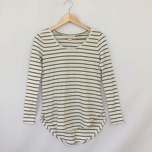 BP Long Sleeve Black & White Striped T Shrits